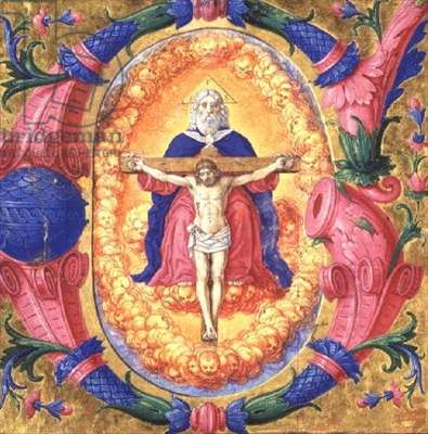 Ms.378r The Trinity, late 15th century (vellum)