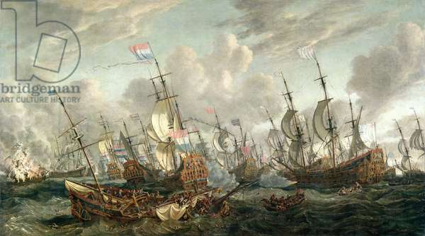 The Four Day's Battle, 1-4 June 1666 (oil on canvas)