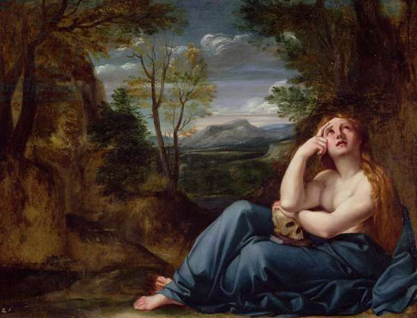 Mary Magdalene in a Landscape, c.1599 (oil on copper)