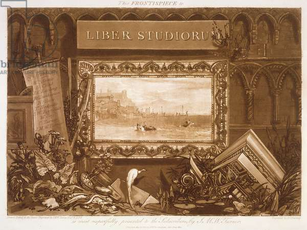 F.1.I Frontispiece to the 'Liber Studiorum' depicting Europa's departure from the City of Tyre, engraved by J.C. Easling, 1812 (etching)