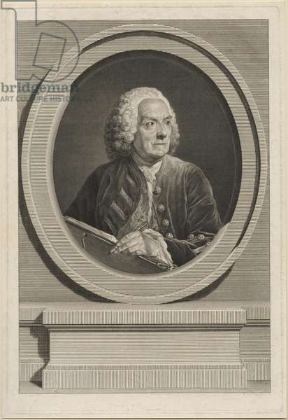 Portrait of Louis de Silvestre (engraving)