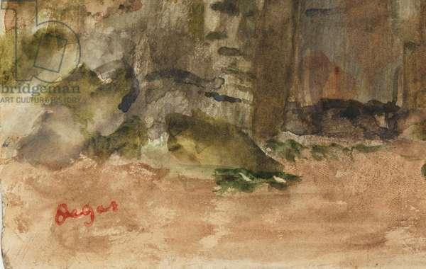 Rocks at Bagnoles-De-L'Orne (detail), before 1917 (w/c and oil on paper)