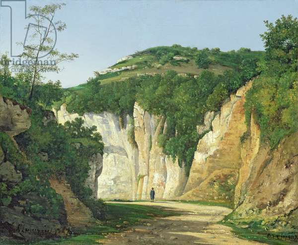 Cremieu, 1847 (oil on canvas)