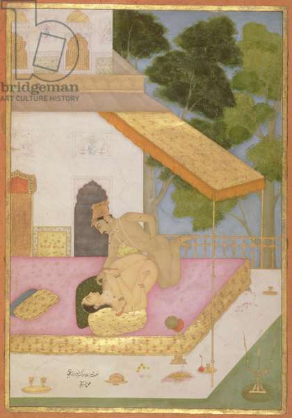 The private pleasure of Prince Aurangzeb, son of Shah Jahan by Anoop Chhattar, Bikaner, Rajasthan, Rajput School, c.1678-98, (gouache on paper)