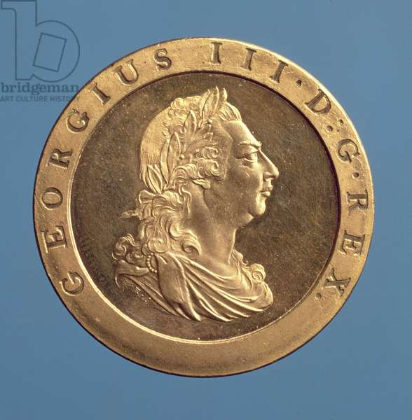 Henderson 1720 proof penny of George III, 1797 (gilt bronze)