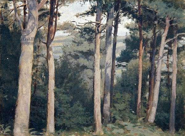 Lambert Castle, 1915 (oil on canvas board)
