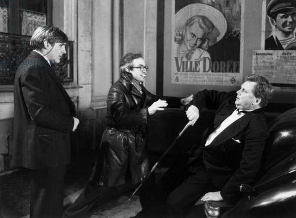 Gerard Depardieu and François Truffaut on the set of the movie The Last Métro, 1980