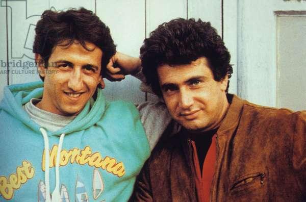 Michel Boujenah et Richard Anconina dqns le film Levy et Goliath de GérardOury 1987