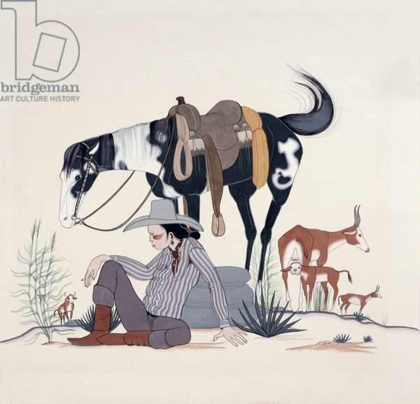 Herding Cattle, 1940 (tempera on paper)