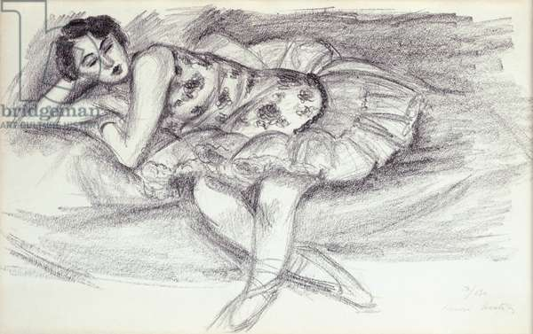 Dancer on Couch from Ten Dancers, 1927 (litho)