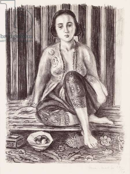 Odalisque with a Bowl of Fruit, 1925 (litho)