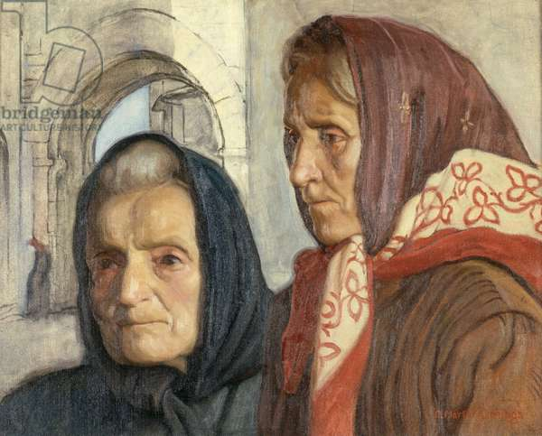 Two Women (oil on canvas)