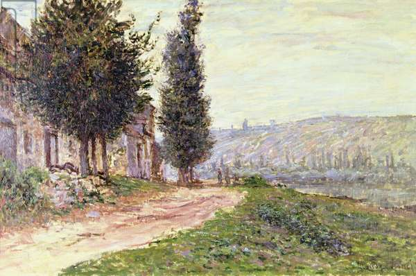 Riverbank at Lavacourt, 1879 (oil on canvas)