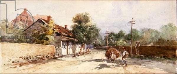 Santa Fe, 1899 (w/c on paper)