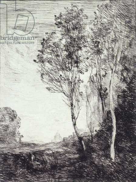 Souvenir d'Italie, 1863 (etching on paper)