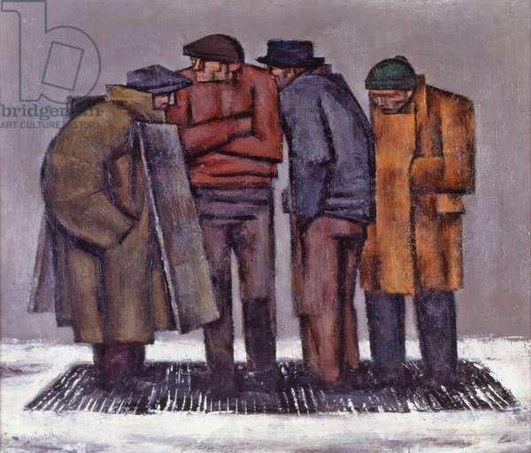 Street Scene, 1938 (oil on canvas)