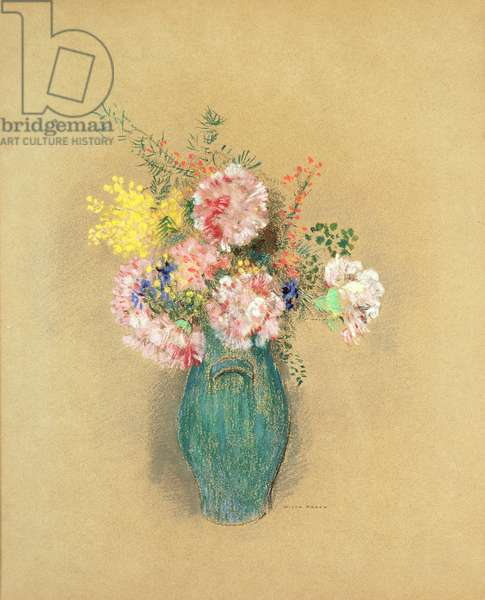 Carnations (pastel on paper)