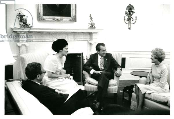 In the Oval Office, 22nd September, 1970 (b/w photo)