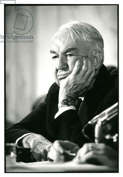 Senator Sam J. Ervin Jr., chairman of the Watergate Committee, November 1, 1973 (b/w photo)