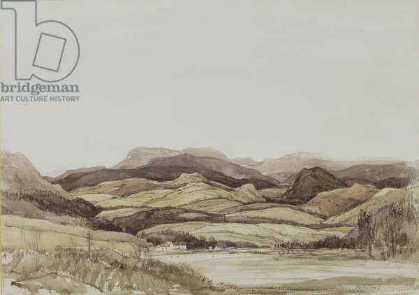 A Highland Landscape (w/c & pencil on paper)