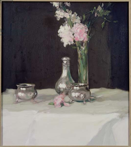 Jonquils and Silver (oil on canvas)