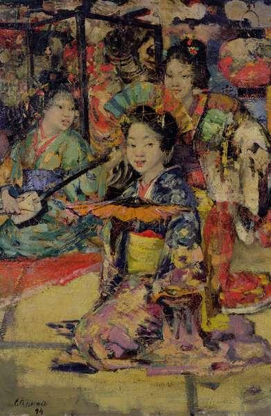 Geisha Girls, 1894 (oil on canvas)