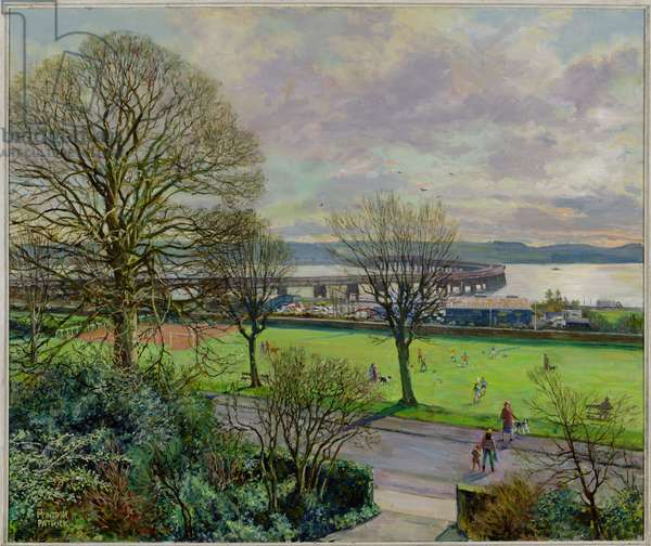 Magdalen Green, Dundee (oil on canvas)