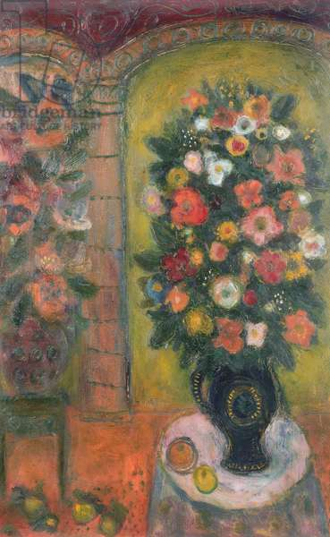 Flowers on a Table, 1946 (oil on board)