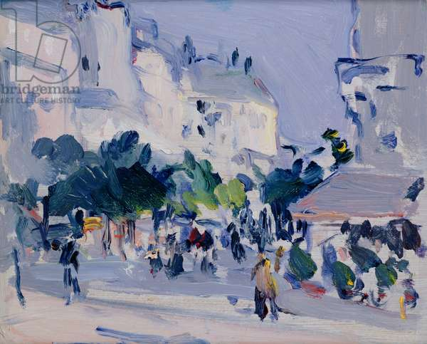 Paris Plage (oil on board)