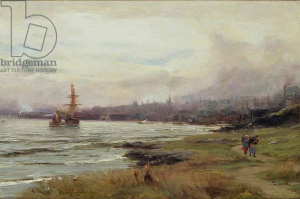 Dundee from the East, 1890 (oil on canvas)