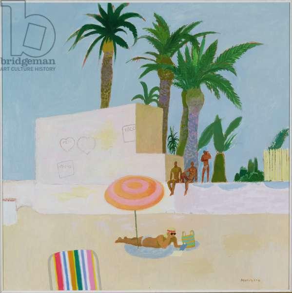 Love on the Costa del Sol, c.1983 (oil on board)