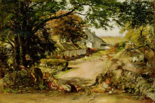 The Village, Whitehouse (oil on canvas)