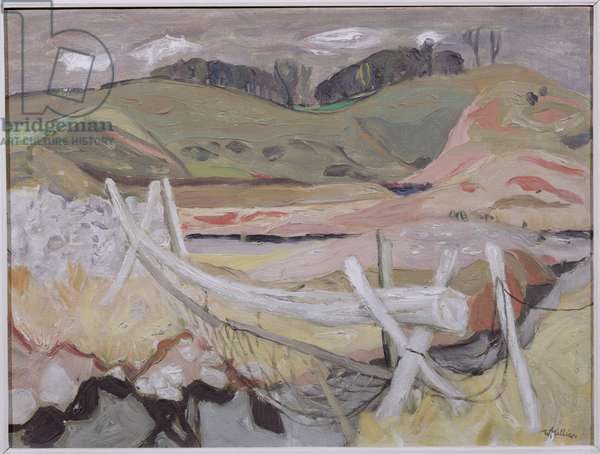 The Cattle Fence (oil on canvas)