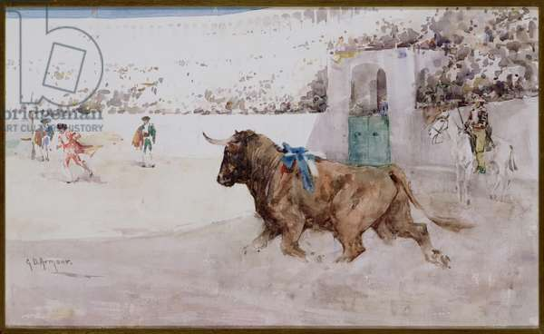 Entrance of the Bull, c.1891 (w/c on paper)