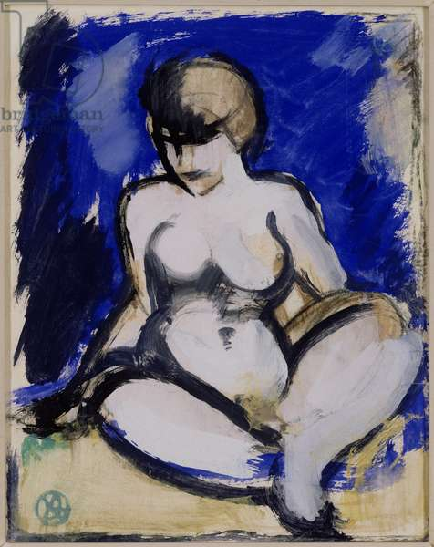 Blue Nude (w/c on paper)