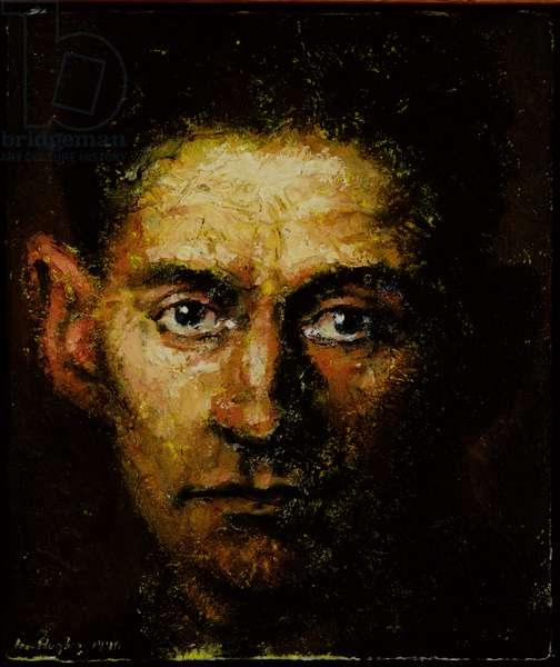 Franz Kafka, 1992 (oil and sand on canvas)
