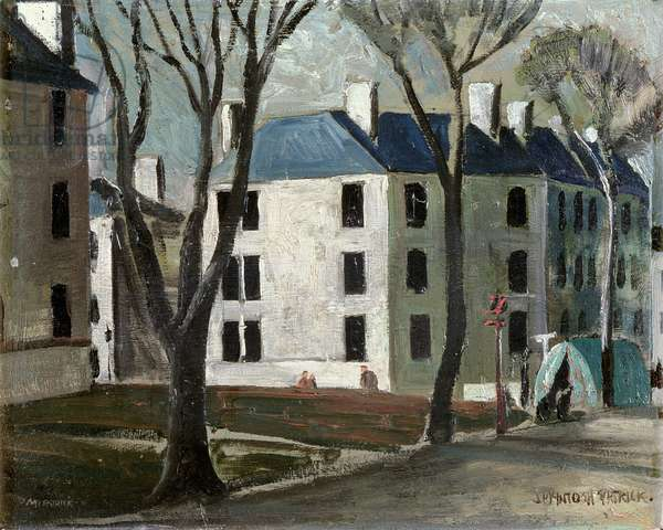 Fleming Houses, Dundee, c.1931 (oil on panel)
