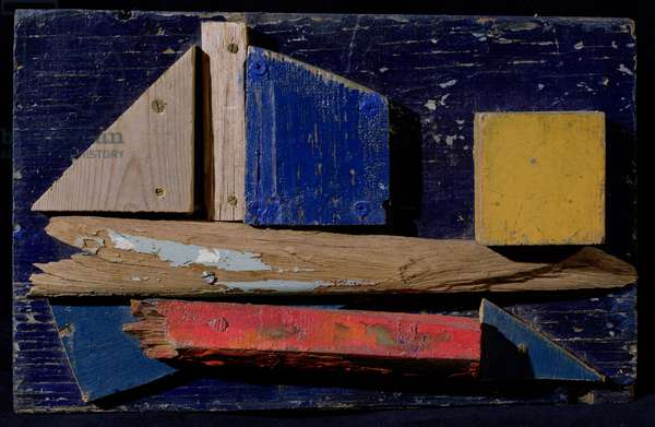 Passing in the Night, 1994 (painted wood)