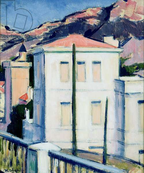 The White Villa, Cassis, 1924 (oil on panel)
