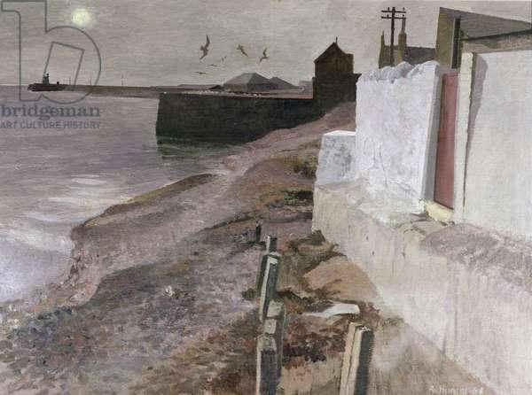 Sea Walls, Arbroath, 1968 (oil on canvas)