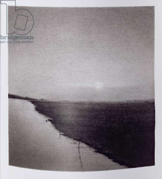Where the Brahamaputra Meets the Clyde, series No.3, 2003 (charcoal and graphite on paper)
