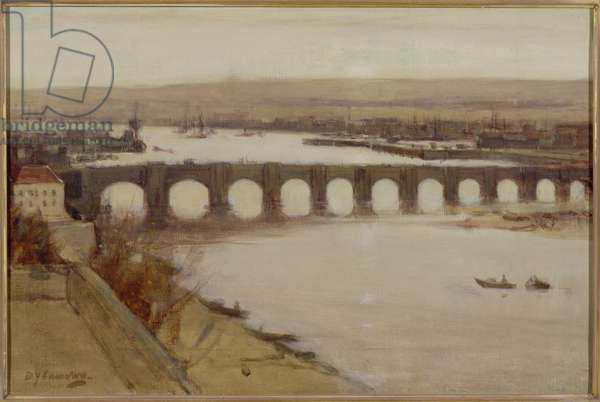 Berwick Bridge (oil on canvas)