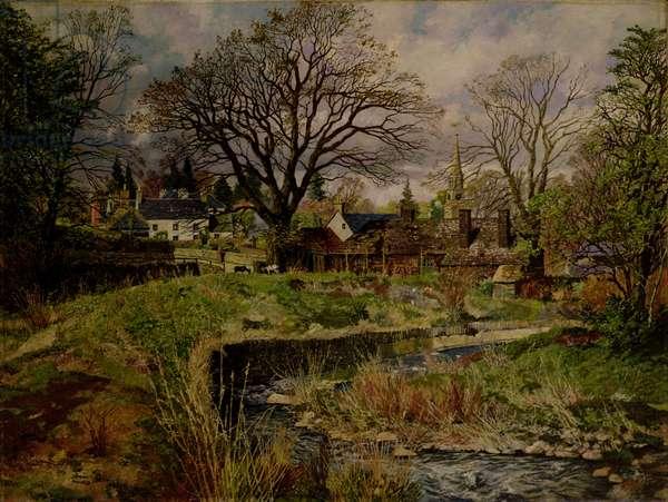 Glamis Village, April, 1946 (oil on canvas)