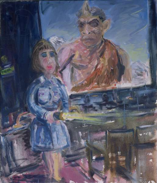 Usherette (Beauty and the Beast) 1996 (oil on canvas)