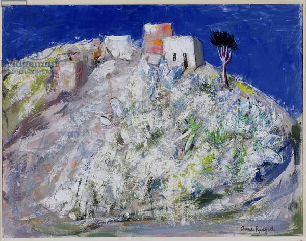 Houses on a Hill, c.1958 (oil on canvas)