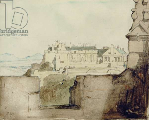Stirling Castle (pencil, w/c on paper)