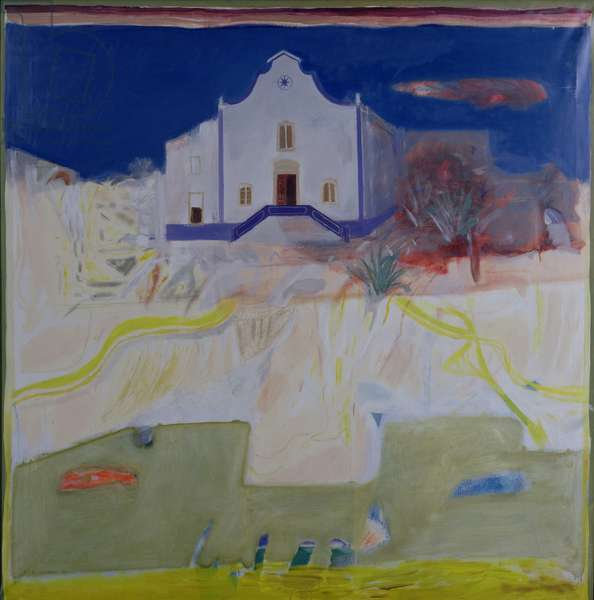 Churches at Ericeira, 1969 (oil on canvas)