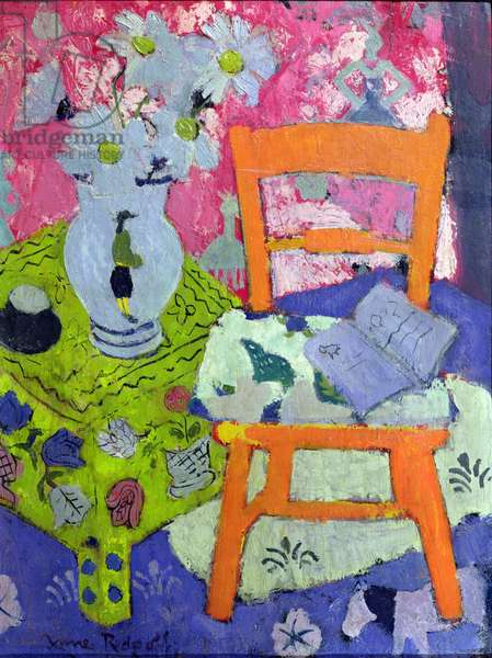 Still Life with Orange Chair, c.1944 (oil on board)