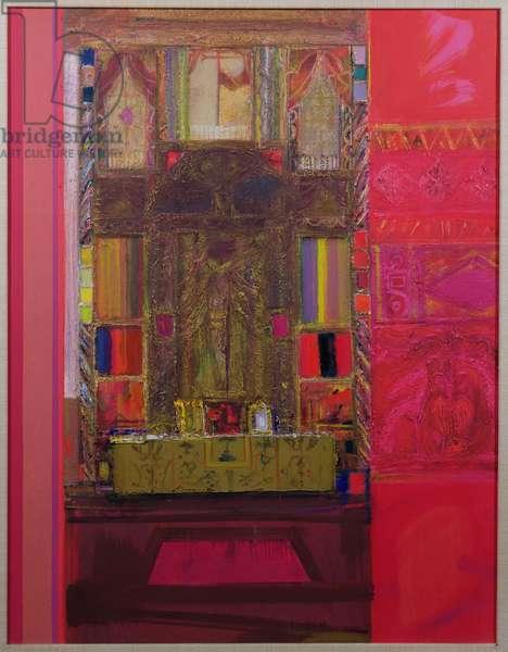 Mexican Altar (oil on canvas)