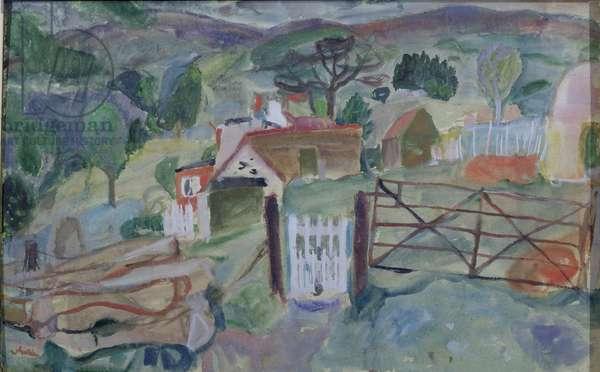 Crofts Near Fearnham (w/c on paper)